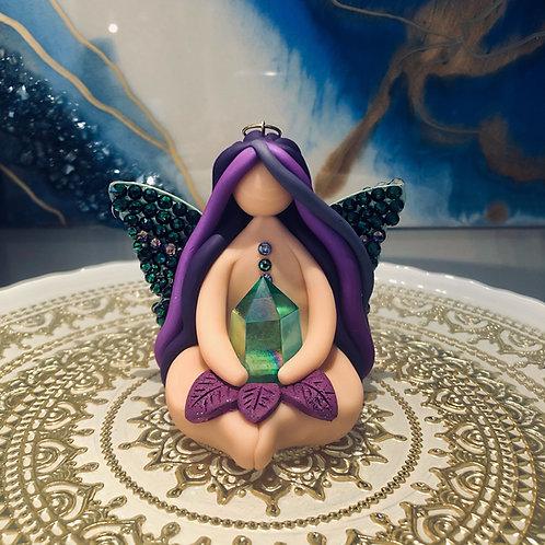 Green Aura Quartz Fairy Ornament