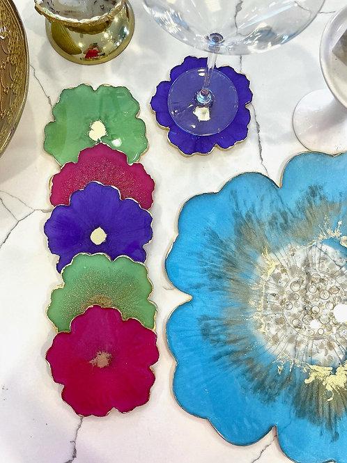 Spring FlingBlooming Crystal Coaster Set