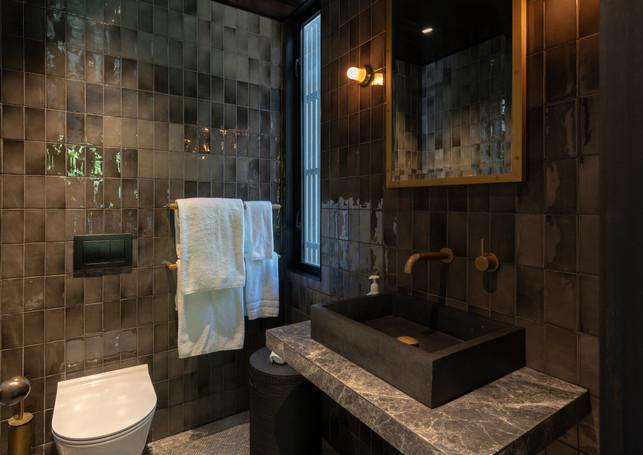 waiheke island lantern house holiday rental accomodation - guest bedroom marble granite minimal design beautiful