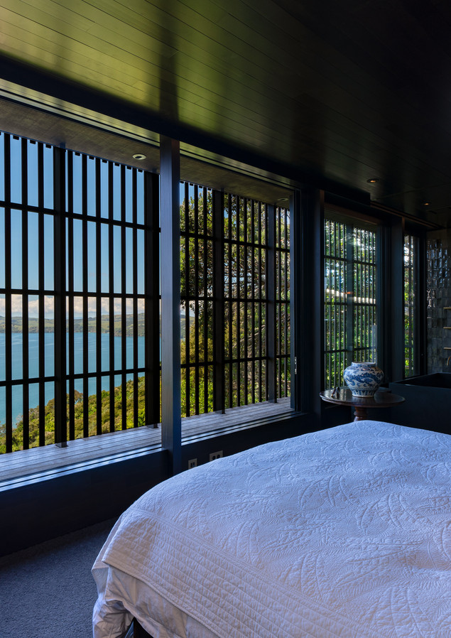 master bedroom.jpgwaiheke island lantern house holiday rental accomodation - bedroom with view king sized bed