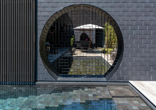 waiheke island lantern house holiday rental accomodation - pool eastern asian design nature