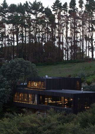 waiheke island lantern house holiday rental accomodation - herbst architects design nature wild