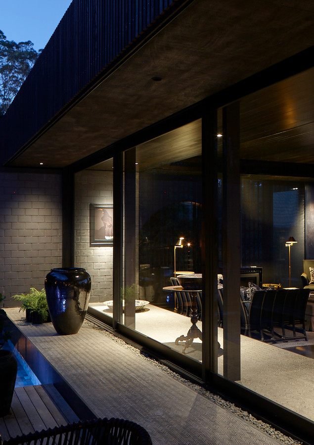 waiheke island lantern house holiday rental accomodation - pool design night