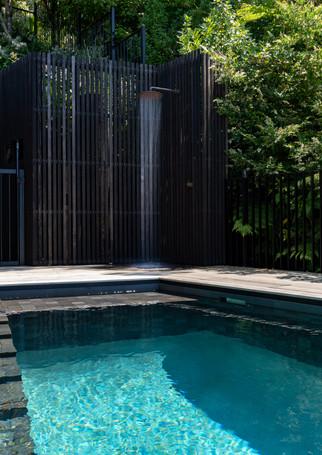 waiheke island lantern house holiday rental accomodation - outdoor shower pool nature