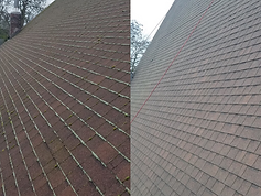 Composite roof before after