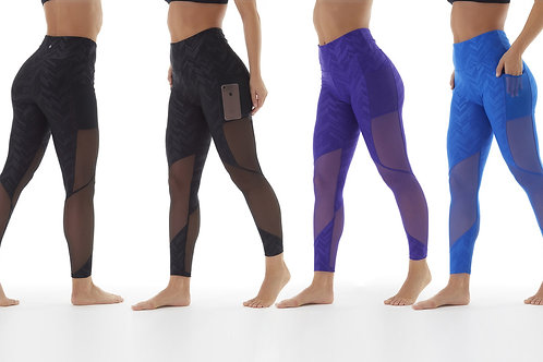 Women's High-Waist Power Tek Leggings with Pockets