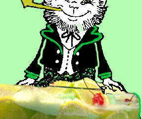 Leprechaun's Libation: Party With A Lime Sherbet Punch