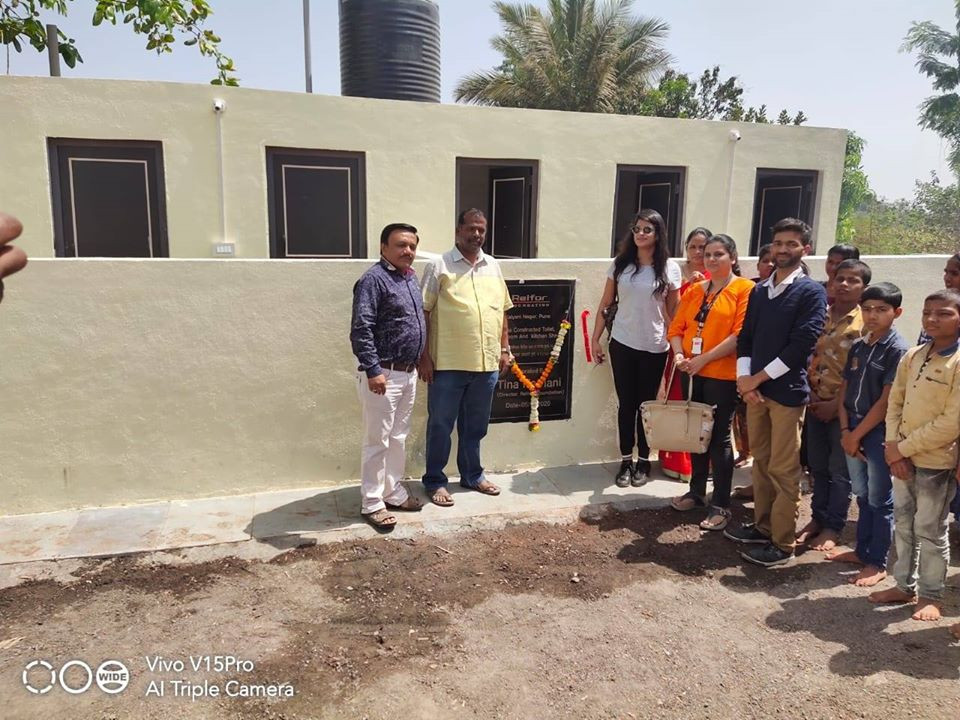 Inauguration of Toilets and Drainage Line Construction at Alandi School