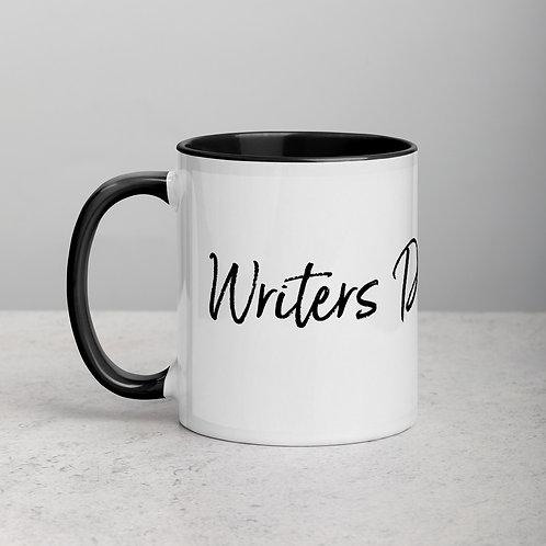 'Writers Drug of Choice' Mug with Color Inside