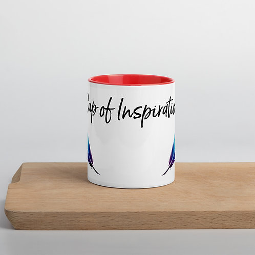 'Cup of Inspiration' Mug with Color Inside