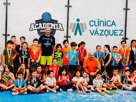 Fiesta infantil Academia Padelprix Clínica Vázquez