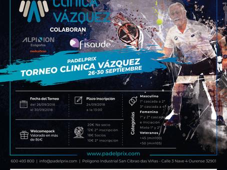 Últimas horas para la inscripción del Torneo Clínica Vázquez