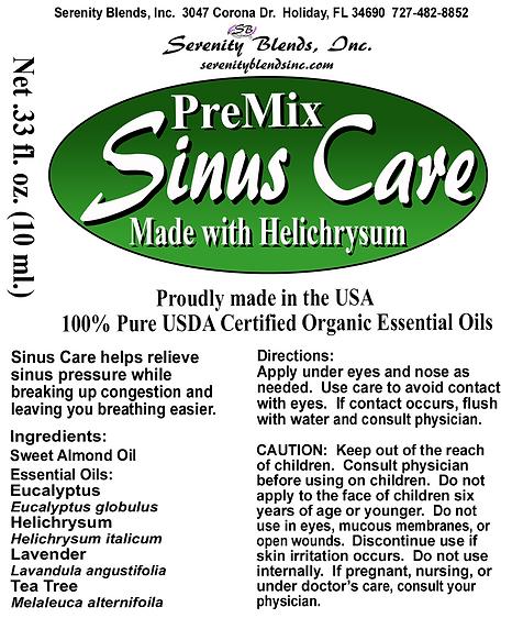 Label 10 ml roller sinus care premix 2.1