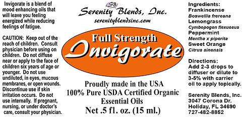 Label 15 ml invigorate full strength 2.7