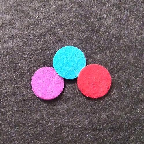 15mm dia. felt diffuser pads