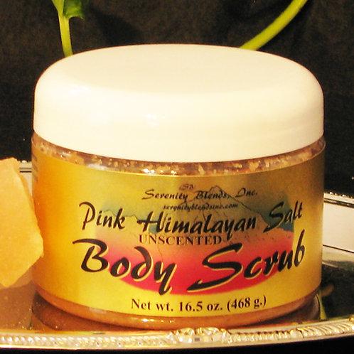 Pink Himalayan Salt Body Scrub 16.5 oz. Unscented