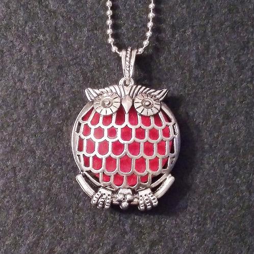 Owl Vintage aromatherapy necklace