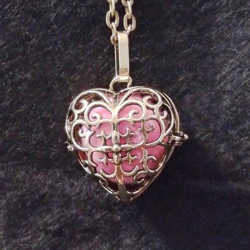 Heart Shaped Cross ball aromatherapy necklace
