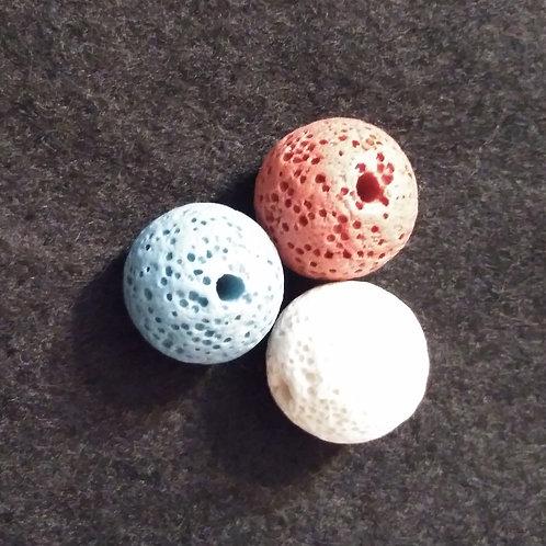 16mm dia. colored lava stone diffuser balls