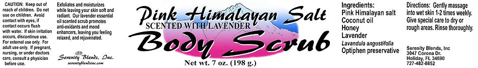 label 7 oz scented pink himalayan salt b