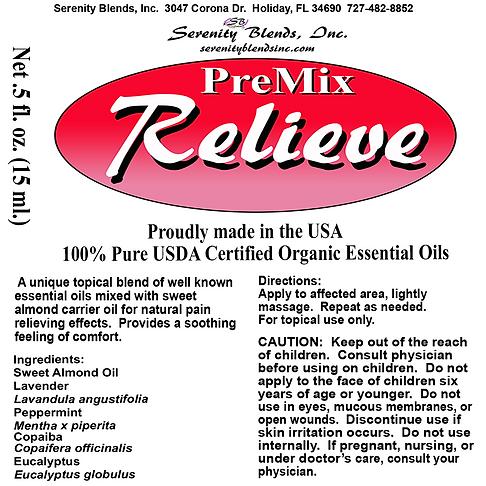 Label 15 ml roller relieve premix 2.5 x