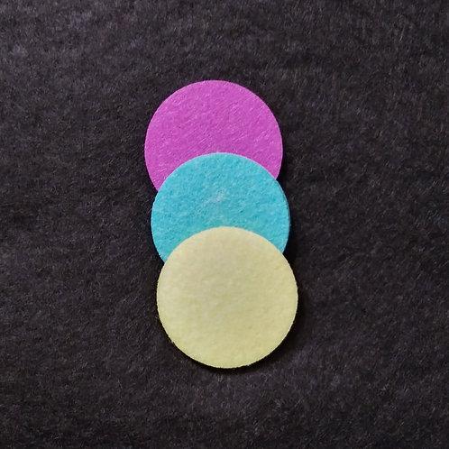 28 mm dia. felt diffuser pads