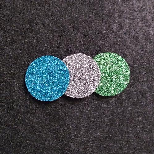 23 mm dia. glitter diffuser pads