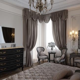 Commode Louis XV noire