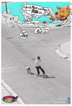 Riders: Christos Yiannaki and Aris aka Ballsack Photography: Tony Josephides Graphics: Stefanos Panteli and Christos Yiannaki  Story: Dawg, get your finest collar at Stay_K Skateboarding. Then ride with style and finesse wherever the road takes you. Cope.  The poster is still available for free with every purchase of a complete skateboard, board or Stay_K pullover. Last but not least, find more pictures from the day of the photoshoot on our blog page below: