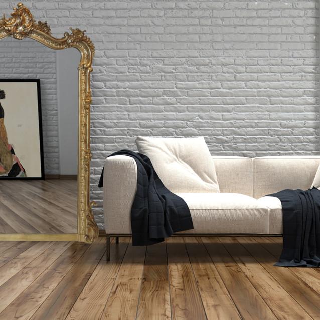 Miroir trumeau Louis XV doré