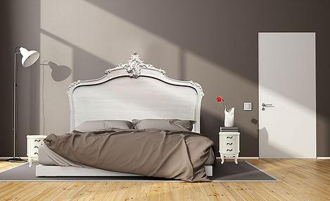 Têtes de lit Louis XV blanches patinées