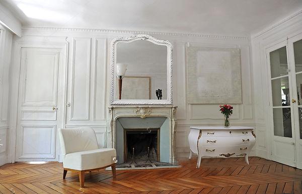 Miroir trumeau Louis XV patiné