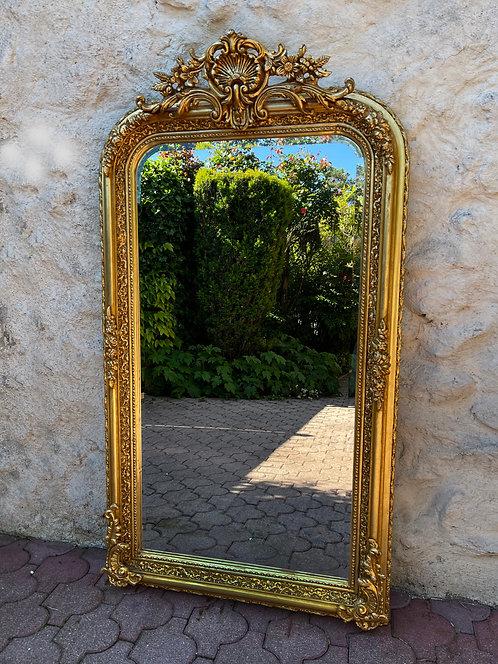 Superbe Miroir Trumeau Biseauté de Style Louis XV Doré - ALBEN168