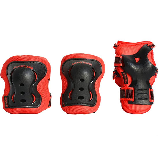 Athlopaidia - Protective Gear Set Kids red -  S + XS