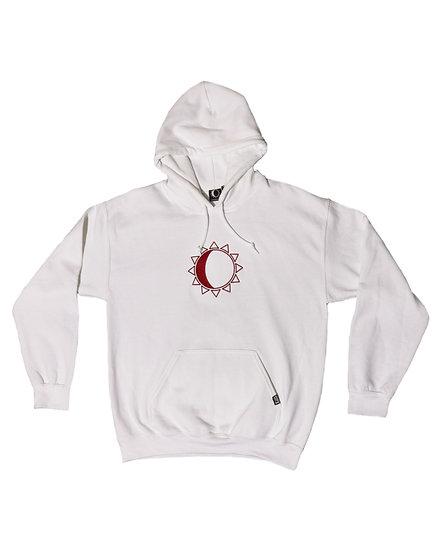 Stay K - Logo Hoodie - white/burgundy needlecraft