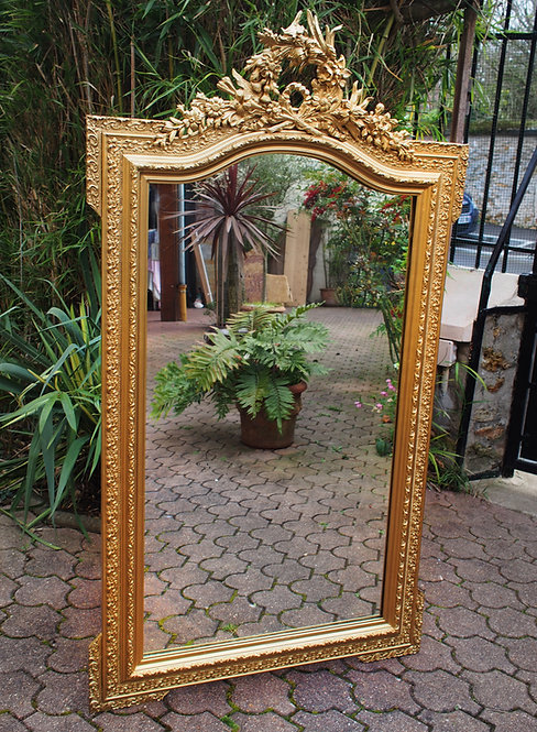 Miroir Louis XV biseauté baroque doré ALBEN168