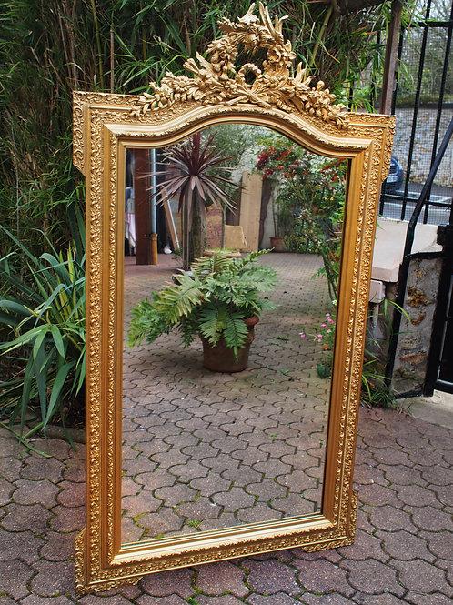 Miroir Trumeau de Style Louis XVI Doré - ALBEN168