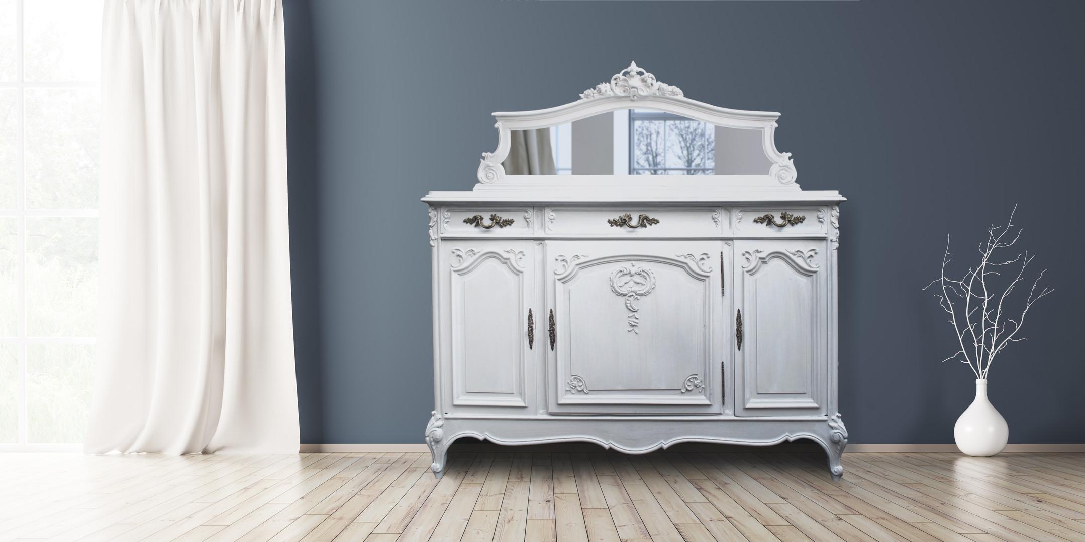Buffet Louis XV blanc