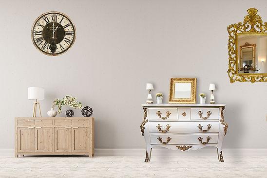 Commode Louis XV blanche patinée - Décoration intérieure à la mode