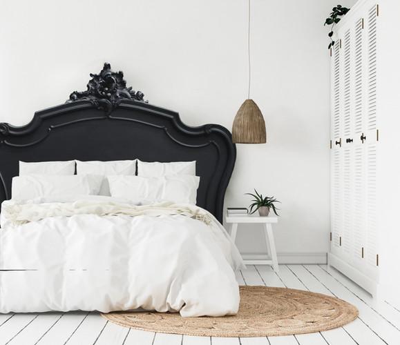 Tête de lit Louis XV noire
