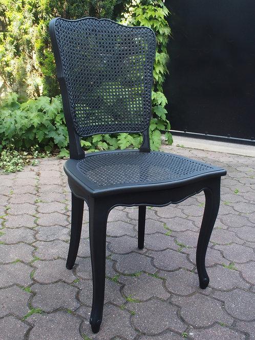 Lot de 6 Chaises de Style Louis XV Noires - ALBEN168