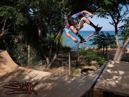 Rider: Tasos Panayi Photography: Christos Yiannaki  The squad is back on track. First post-apocalyptic roadtrip = success. We are glad to 've skated this paradise DIY miniramp. Many thanks to the host!