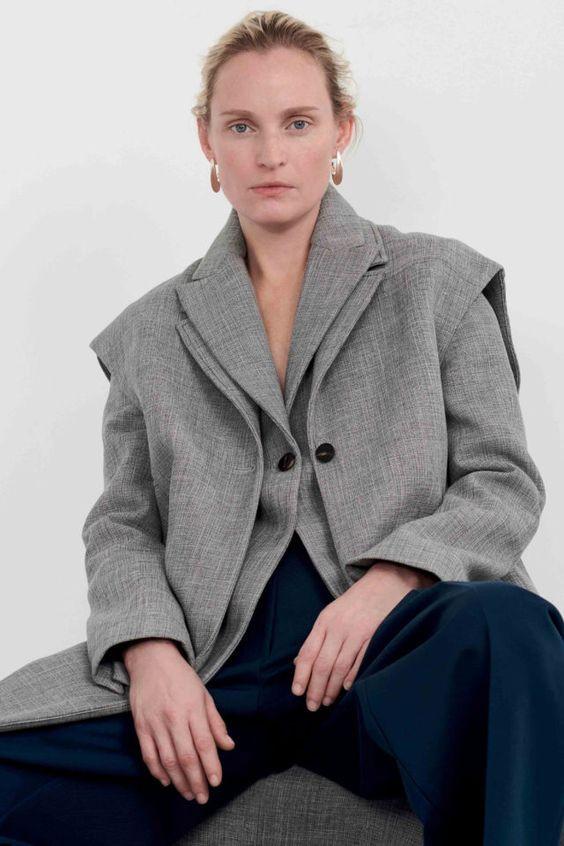 тренды сезона осень зима 2019 2020, модная одежда, тренд, жилет, деловой образ