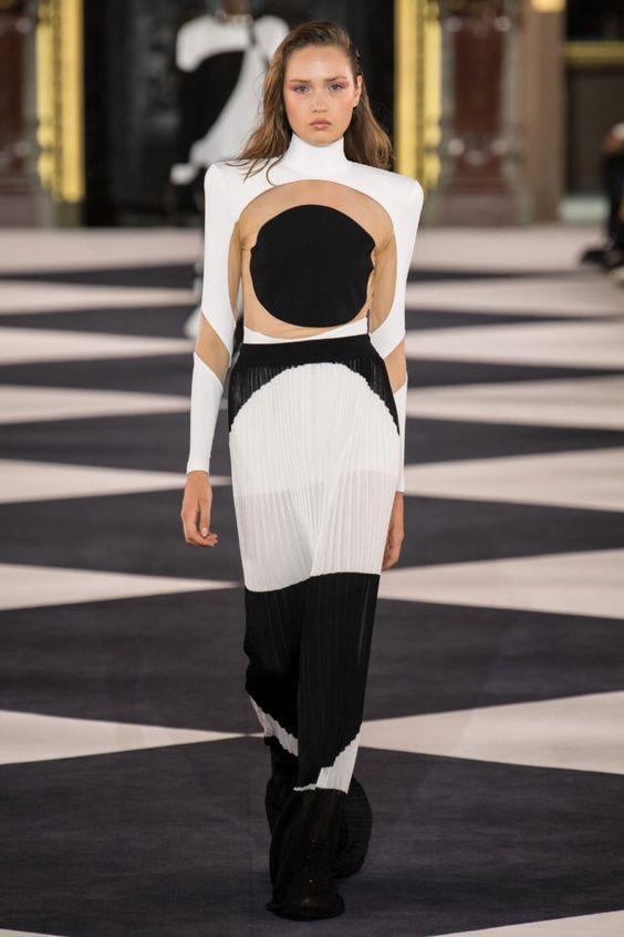 колор блокинг, платье, необычное платье, длинное платье