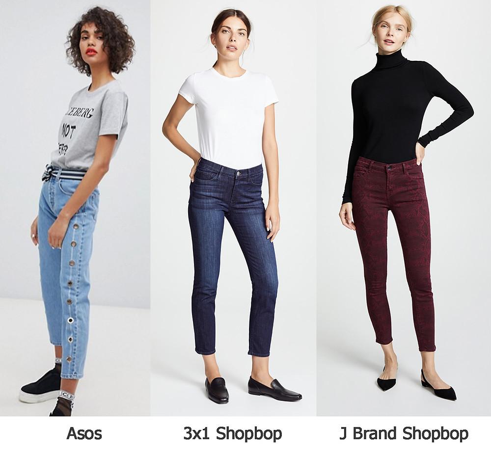 укороченные джинсы, джинсы асос