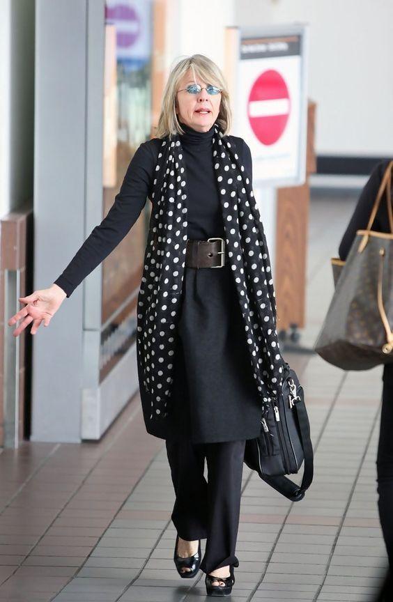 стиль 50+, женский стиль, элегантность, современный стиль для женщин 40+ и 50+, яркий образ, персональный стиль, Дайан Китон, фото стильных женщин
