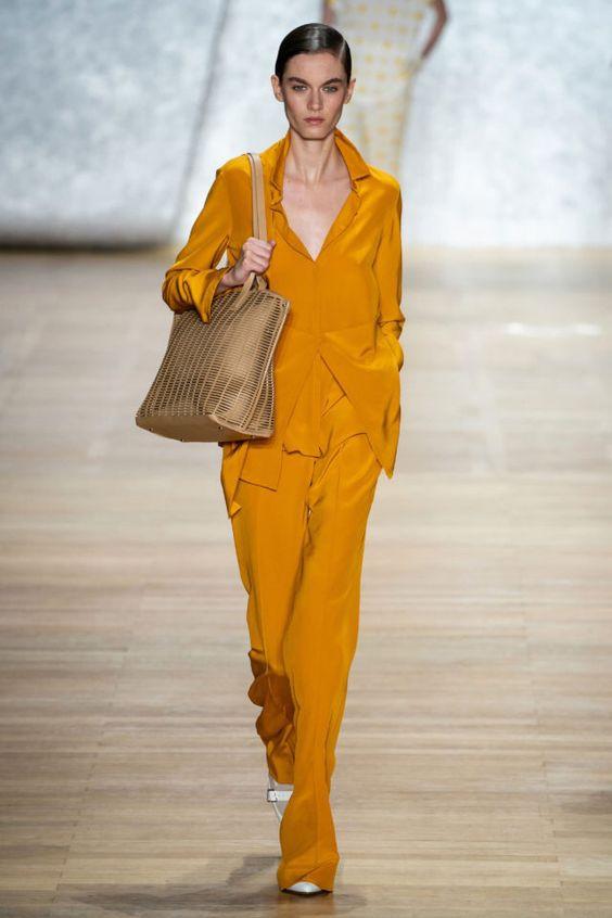 колор блокинг, яркий костюм, оранжевый костюм, блог о стиле