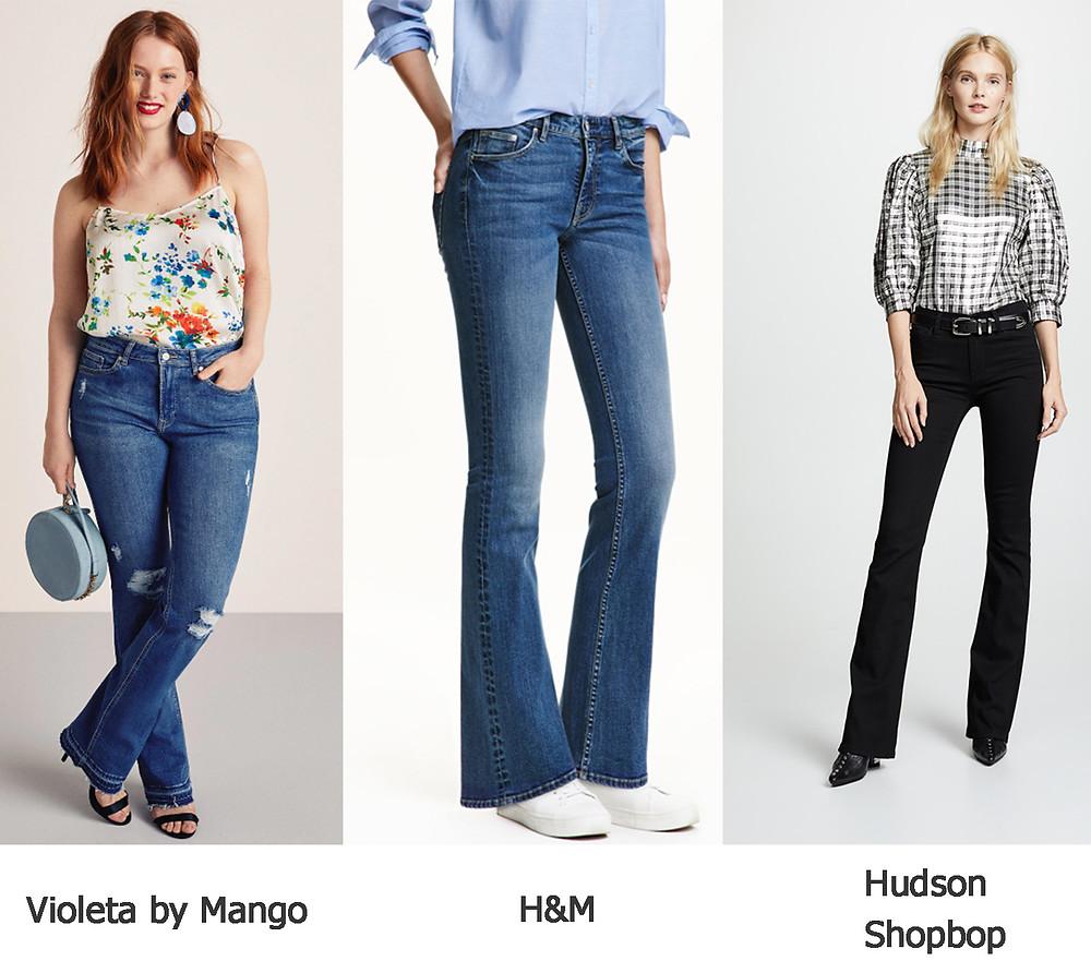 джинсы клеш, джинсы H&M