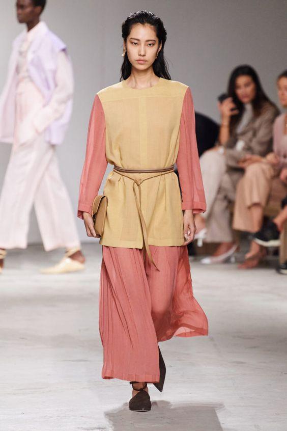 колор блокинг, розовое платье, длинное платье, рубашка на платье