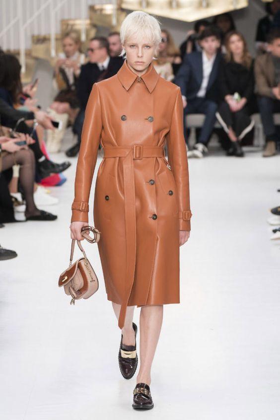 тренды сезона осень зима 2019 2020, модная одежда, тренд, кожаный плащ